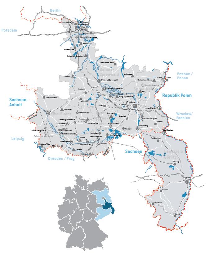 Lausitz Karte.Region Lausitz Erfa Kv